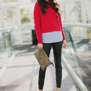 Marks & Spencer coral red top
